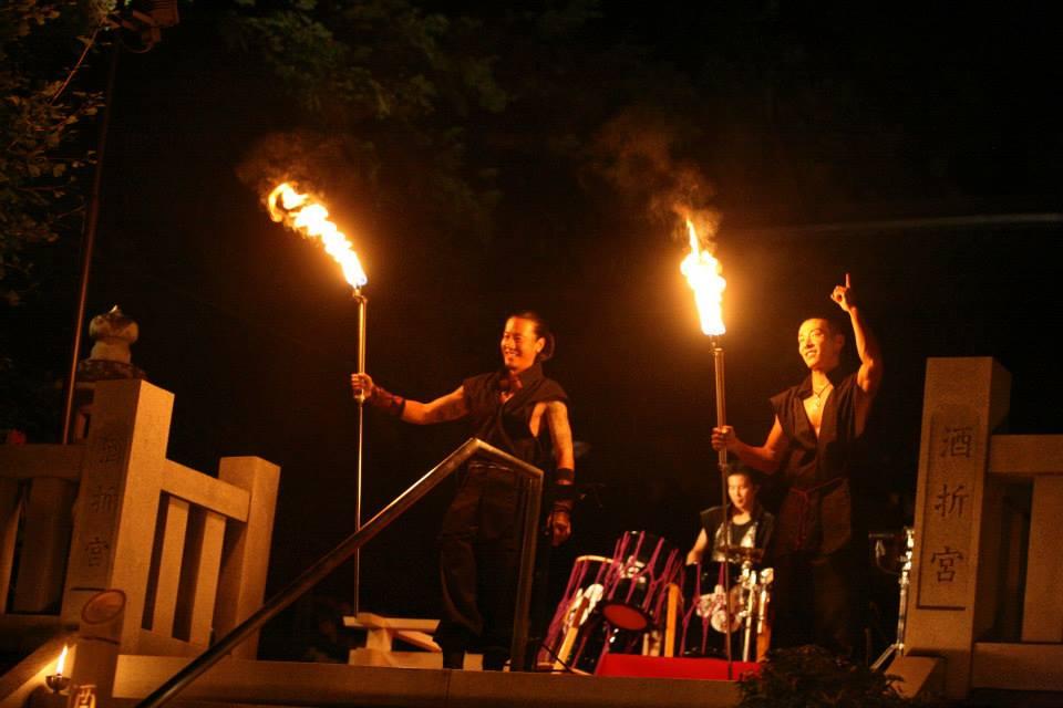 Fire Show at Shirine