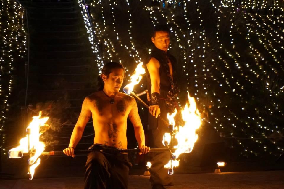 Fire performance Ryoma Shiba